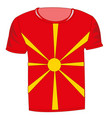t-shirt with flag macedonia vector image vector image