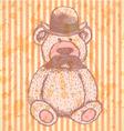 Teddy Hat Mustache vector image vector image