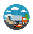 warehouse and transportation services vector image