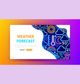 weather forecast neon landing page vector image vector image