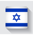 Web button with flag of Israel vector image vector image