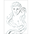 Womans face vector image vector image