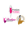 women shape beauty logo design vector image