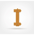 Wooden Boards Letter I vector image vector image