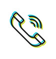 handset telephone flat sign and symbol vector image