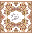 decorative pattern of ukrainian ethnic carpet vector image