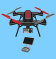 multirotor dark-ruddy vector image