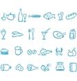 Set handwork icons food vector image
