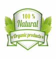 100 Natural Green Label Isolated vector image vector image