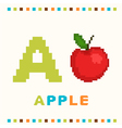 alphabet for children letter a and an apple vector image vector image