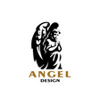 an angel with wings vector image vector image