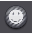 app circle striped icon on gray background Eps 10 vector image vector image