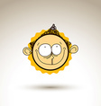 artistic colorful drawing of happy person face vector image vector image