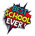 back to school in comic speech bubbles vector image vector image