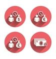 Bank loans icons Cash money symbols vector image vector image