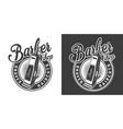 barbershop round logotype vector image vector image