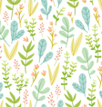 Beautiful pastel floral seamless pattern vector image vector image