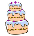 big cake on white background vector image vector image