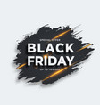 black brushstroke with flare black friday sale vector image vector image