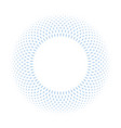 blue ring mosaic on white background stylish vector image vector image