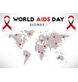 card on world aids day vector image