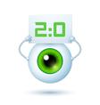 Cartoon Cyber Eye vector image vector image