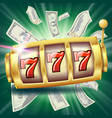 casino slot machine banner fortune chance vector image vector image