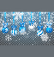 christmas snow falling snowflakes on dark vector image vector image