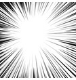comic radial speed lines background manga speed vector image vector image