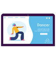contemporary and classical dancing set dancer vector image vector image