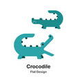 crocodile flat icon vector image