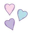 cute hearts drawings vector image