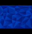 deep blue 3d polygon geometric triangles vector image