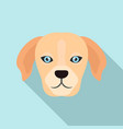 dog head icon flat style vector image vector image