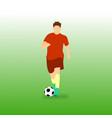 dribbling ball football soccer player vector image