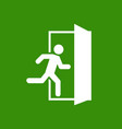 emergency exit escape route signs vector image vector image