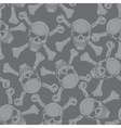 Evil skull with bones Warning sign Seamless vector image vector image