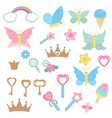 fairy design elements fairy design elements vector image vector image