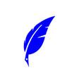 feather pen logo feather pen logo vector image