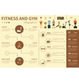 Fitness And Gym infographic flat vector image vector image