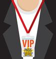 Flat Design VIP Lanyard vector image vector image