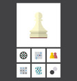 flat icon play set of arrow pawn multiplayer and vector image vector image
