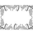 flowers wreath cartoon vector image vector image