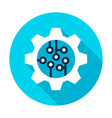 gear wheel microchip circle icon vector image