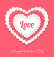 Gift card Valentines Day vector image vector image