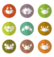 group of crab in the circle vector image vector image