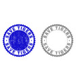 grunge save tigers scratched stamp seals vector image vector image