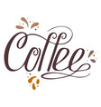 Hand-drawn lettering - coffee