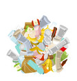 heap trash isolated pile rubbish garbage stack vector image vector image