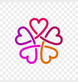 Heart logo flower icon